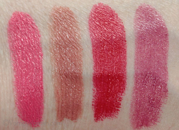 Sonia Kashuk Satin Luxe Lip Color Swatches
