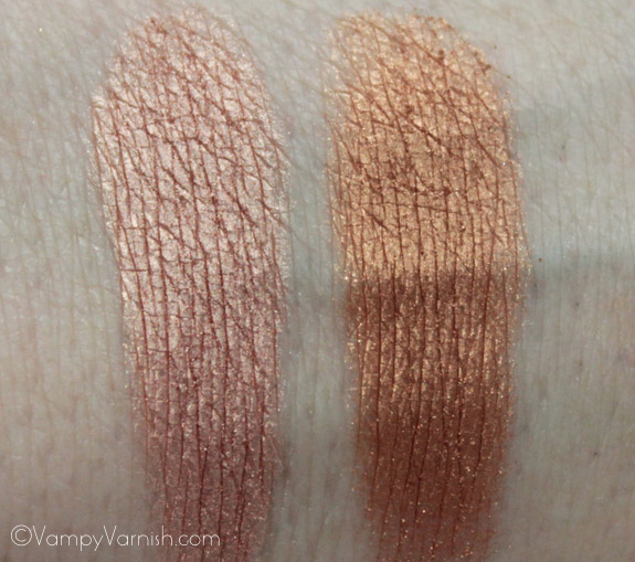 Anastasia Eye Shadow Duo On Set Swatches