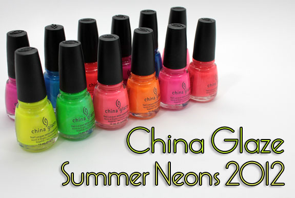 China Glaze Summer Neons Swatches & Review | Vampy Varnish