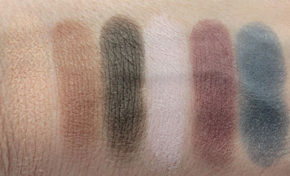 NYX Nude Matte Shadows Swatches
