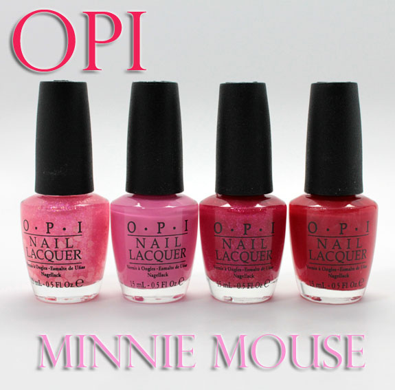 OPI Minnie Mouse OPI Vintage Minnie Mouse Collection Swatches, Photos & Review