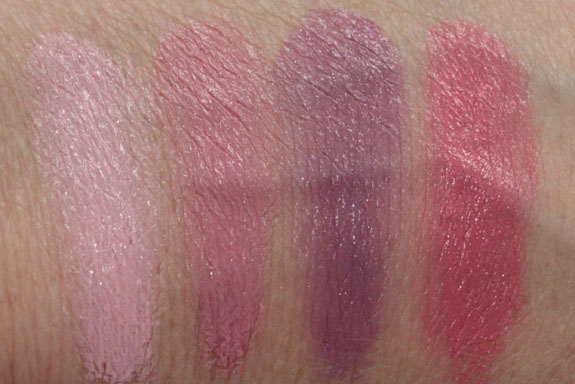 MAC Casual Colour Lip  Cheek Colour Swatches