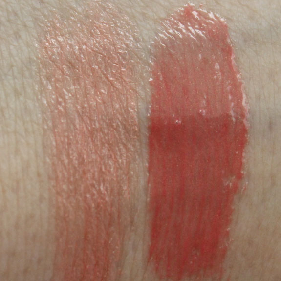 MAC Heavenly Creature Meteoric Pleasure Seeker Swatches