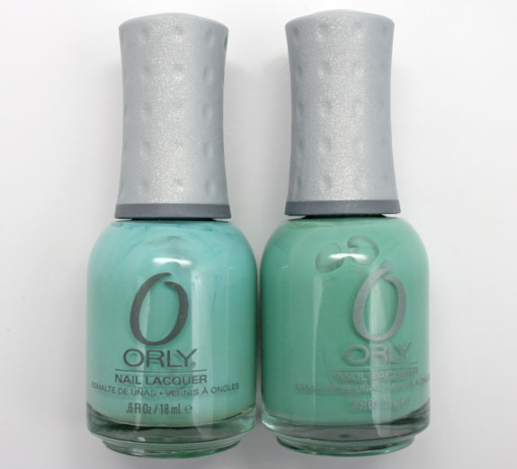 Orly Gumdrop vs Ancient Jade 2