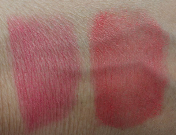 Jordana Color Tint Blush Stick Pink Adore  Coral Touch Swatches