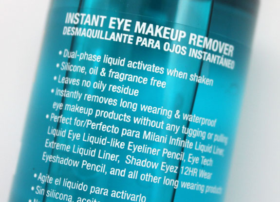Milani Instant Eye Makeup Remover 2 Milani Instant Eye Makeup Remover Review