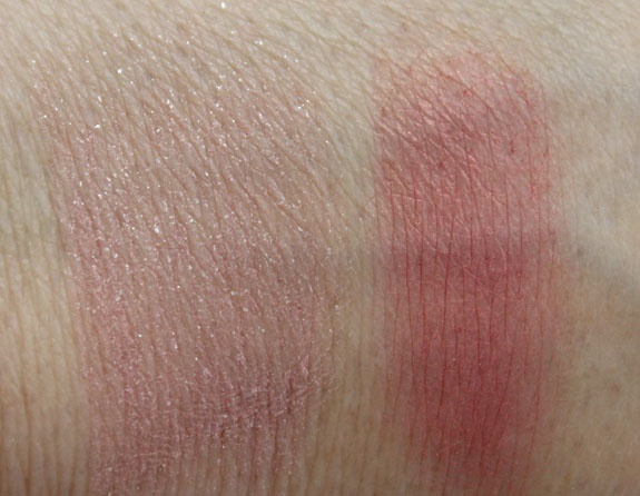 NARS Undress Me and Outlaw Swatches