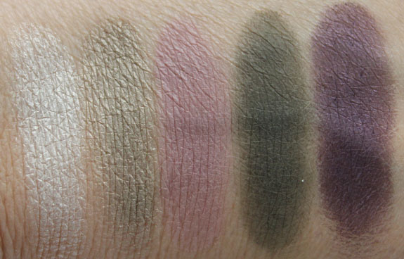 NARS Vent Glace and High Society Swatches