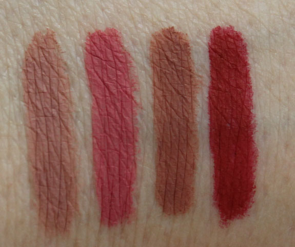 Too Faced Perfect Lips Lip Liner Swatches