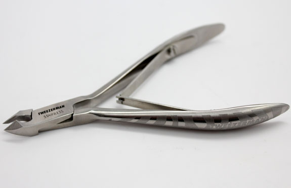 Tweezerman Satin Etched Zebra Cuticle Nipper