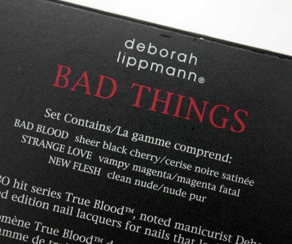 Deborah Lippmann Bad Things Mini Nail Lacquer Trio 2