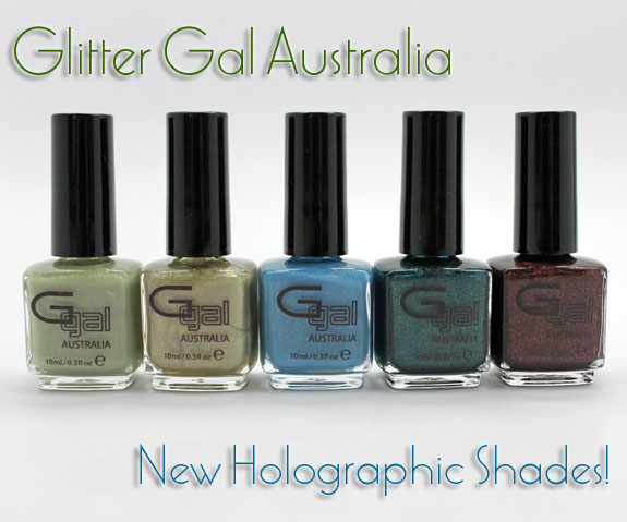 Glitter Gal Holographic Glitter Gal Australia New Holographic Nail Shades!