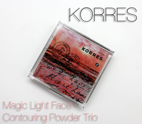 Korres Magic Light Face Contouring Powder Trio in Santorini