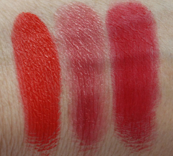 MAC Pro Lip Palette Editorial Reds Swatches 2