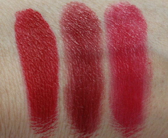 MAC Pro Lip Palette Editorial Reds Swatches