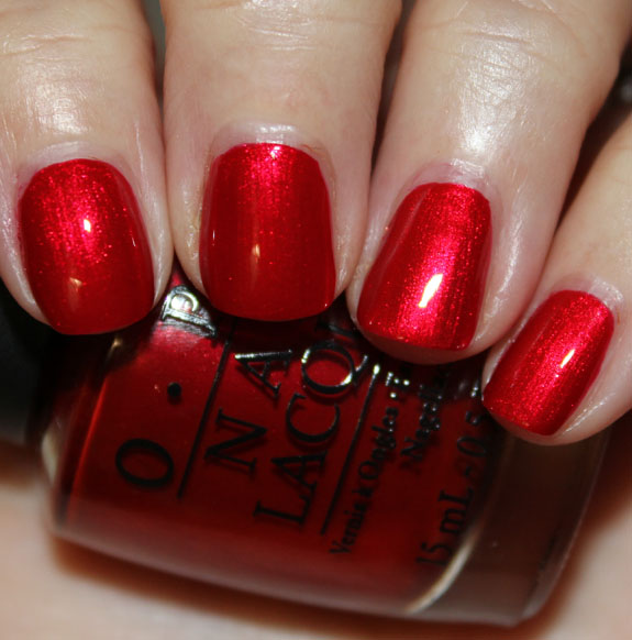 OPI Danke Shiny Red OPI Germany for Fall 2012 Swatches, Photos & Review