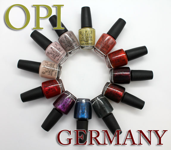 OPI Germany OPI Germany for Fall 2012 Swatches, Photos & Review