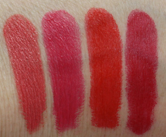 Tarte Glamazon Pure Performance Lipstick Swatches