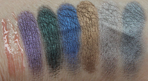 Urban Decay Dangerous Palette Swatches