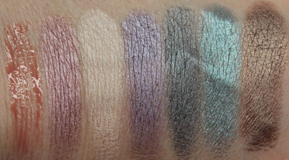 Urban Decay Feminine Palette Swatches