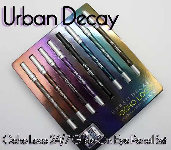 Urban Decay Ocho Loco 24 7 Glide On Eye Pencil Set