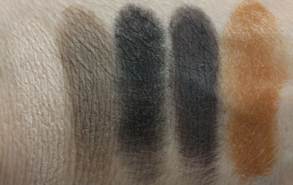 MAC Carine Roitfeld Jungle Camoflage Swatches