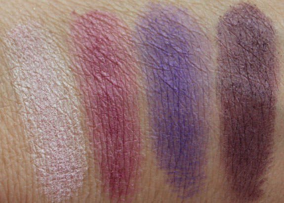 Elf Flawless Eyeshadow in Party Purple Swatches