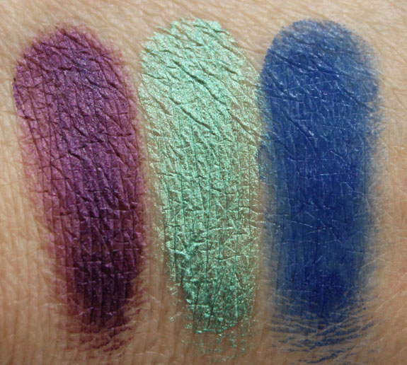 Makeup Geek Gel Liner Swatches