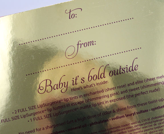 Tarte Baby Its Bold Outside 2 Tarte Baby Its Bold Outside Holiday 2012 Collection Swatches & Review