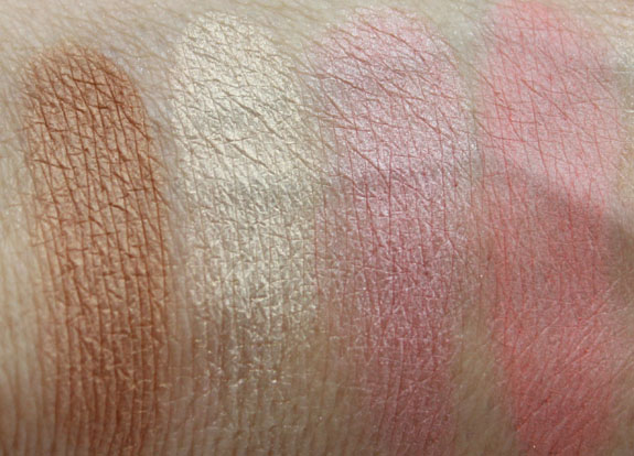 Tarte The Big Thrill Bronzer and Blush Swatches