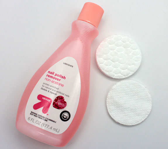 Up  Up Non Acetone Remover and Cotton Rounds