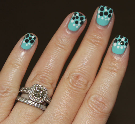 China Glaze For Audrey Concrete Catwalk  Snow Dot Mani 2