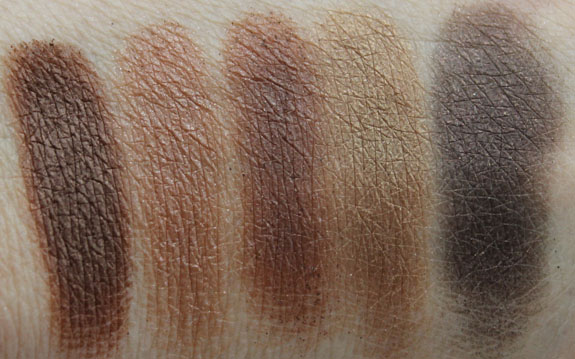 Hard Candy Top Ten Eyeshadow Collection in Naturally Gorgeous Swatches 2