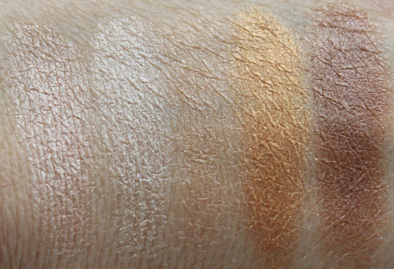 Hard Candy Top Ten Eyeshadow Collection in Naturally Gorgeous Swatches