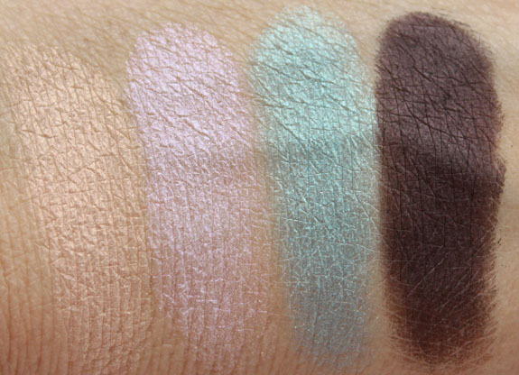 MAC Glamour Daze Extra Dimension Eye Shadow Swatches