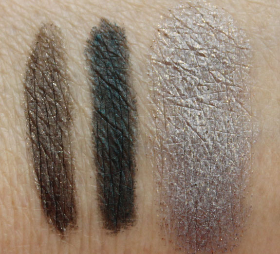 MAC Glamour Daze Kohl Eye Pencil and Fluidline Swatches