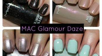 MAC Glamour Daze Nail Lacquer Collage