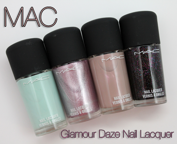 MAC Glamour Daze Nail Lacquer1 MAC Glamour Daze Nail Lacquers for Holiday 2012 Swatches & Review