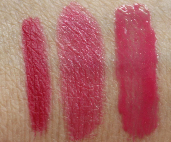 MAC Primped Out Lip Look Bag Luxurious Pink Swatches MAC Primped Out Fabulousness Holiday 2012 Collection Swatches & Review