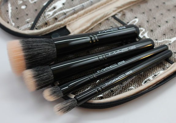 MAC Primped Out Perfectly Plush Brush Kit Mineralize 3 MAC Primped Out Fabulousness Holiday 2012 Collection Swatches & Review