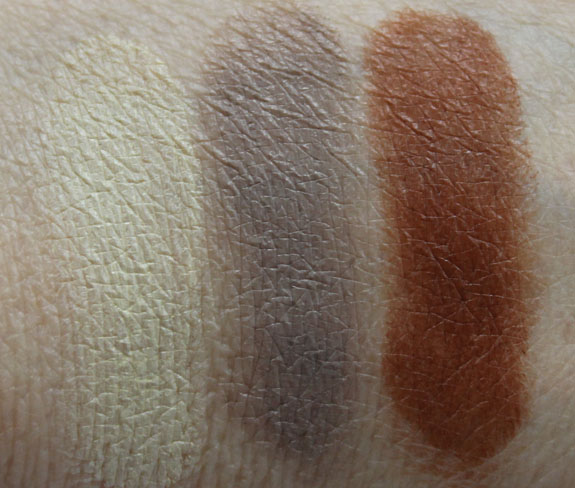 MAC Spring  13 Forecast Eyes Palette Swatches 1