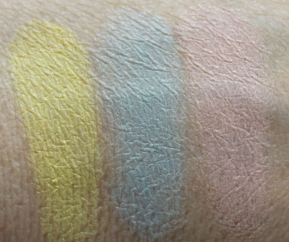 MAC Spring  13 Forecast Eyes Palette Swatches 2