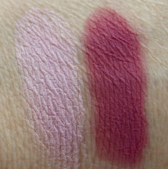 MAC Unconventional and Passionately Tempted Swatches