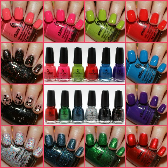 China Glaze Worlds Away Collage