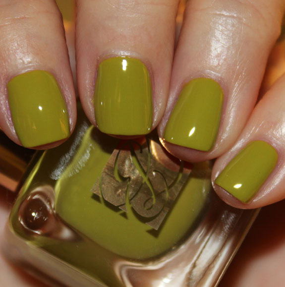 Estee Lauder Absinthe Estee Lauder Heavy Petals Nail Lacquer Collection for Spring 2013 Swatches & Review