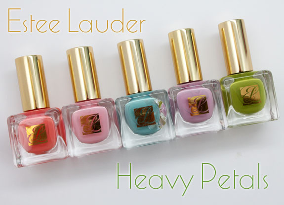 Estee Lauder Heavy Petals Estee Lauder Heavy Petals Nail Lacquer Collection for Spring 2013 Swatches & Review