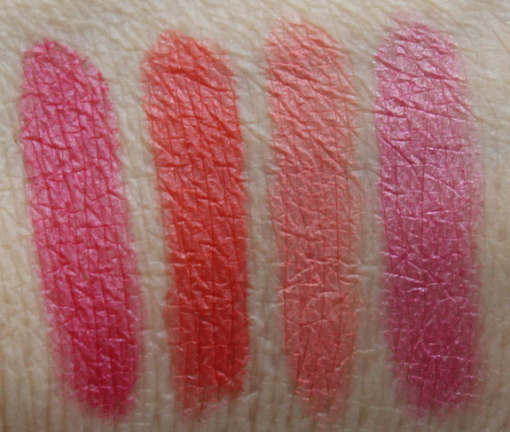 Estee Lauder Pure Color Sheer Matte Lipstick Swatches