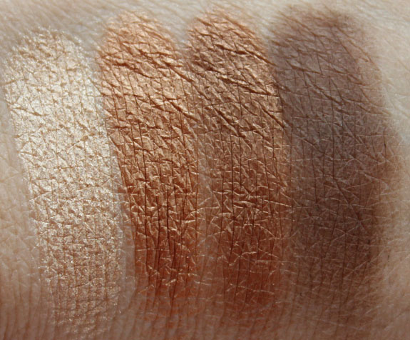 LORAC Bronze Eye Shadow Palette Swatches