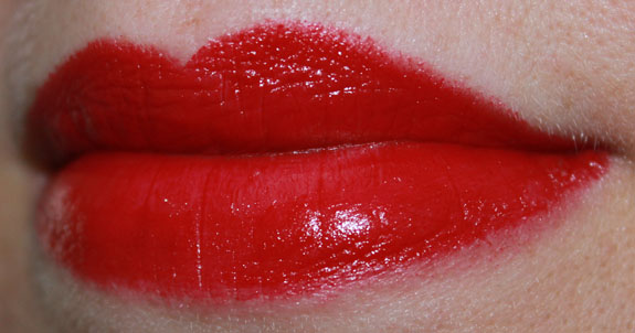 MAC Making Pretty Runaway Red Lipstick Swatch