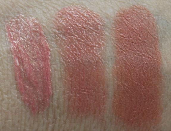 Bobbi Brown Pink Gold Washed Seashell Nude Beige Swatches